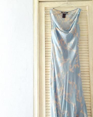 blue dress, vintage